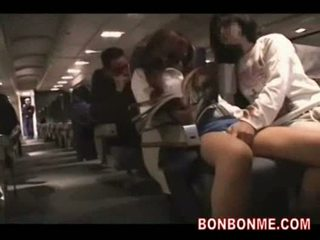 Plane geek forces ol to give him blowjob and cumshot