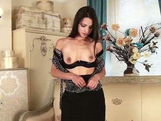 brunette, orgasm, masturbating