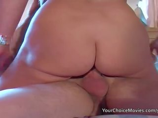 Older Glam Housewife Takes Anal While ...