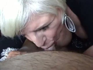 Busty Granny Blowjob and Breast Fuck Video
