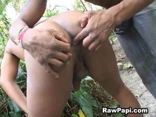 Papi taut backdoor s prstom in globoko prazen hrbet