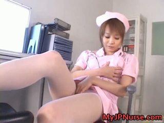 真棒 亞洲人 護士 has 玩具 penetration