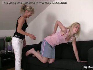 Mom teaching teen lezzy tricks