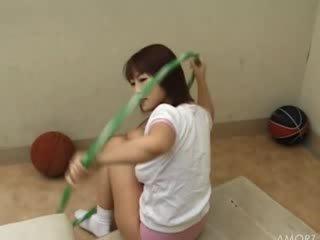 Amateur school girl undress on the floor