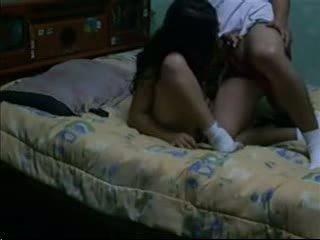 Bayan porno & attract dark haired fucks her bf in her asrama