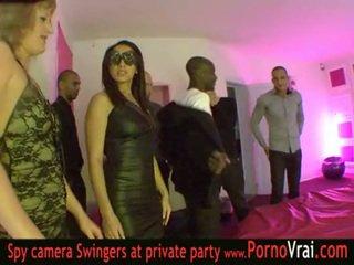 Французька свінгер вечірка в a приватне клуб частина 03