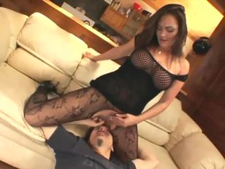 Facesitting and smothering in crotchless nilon