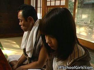 Haru sakuragi אסייתי תלמידת בית ספר has סקס