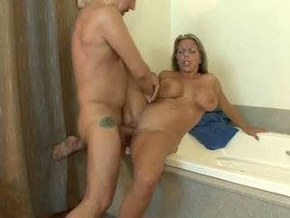 Jus hot amber lynn bach getting jizzed on her meaty round jugs