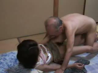 японски, дъщеря, дядо