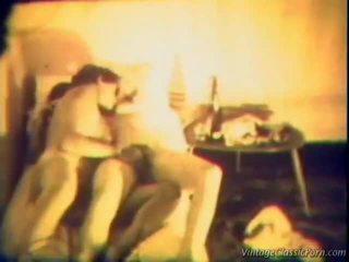 seks lesbian, budak bogel vintaj, porn vintage
