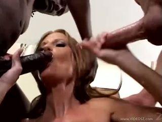 brunette, toys, double penetration