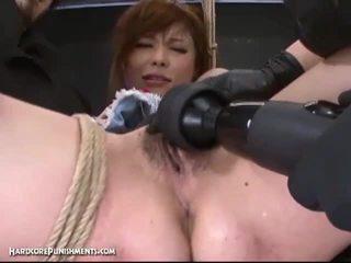 Ekstremalne cipka punishment z napalone japońskie i jej włochate cipka