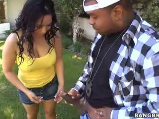 Blank gal met zwart male