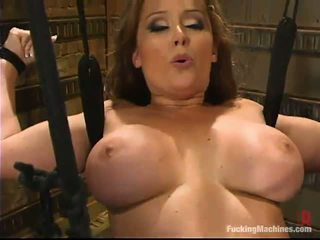 Bosomy eje christina carter has satisfied by a making love device