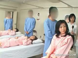 Asian Brunette Girl Blows Hairy Shaft At The Hospital
