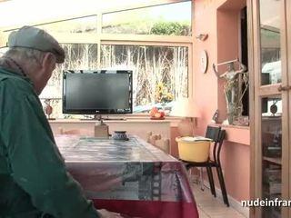 Bello titted francese bruna banged da papy voyeur