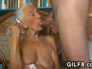 큰 가슴, 할머니, 입