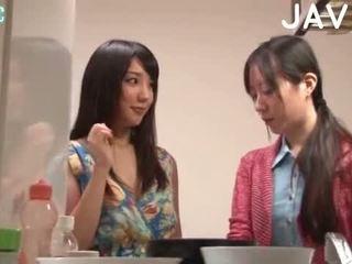 brünette, japanisch, blowjob