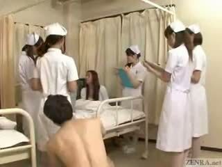 Lopettaa the aika kohteeseen fondle japanilainen nurses!