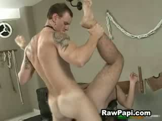 Latin guy locked up and he get fucked up hard