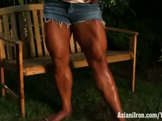fitness, big clit, bodybuilder