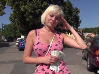 Czech slut Alexis Leone banged in public