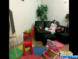 Sensuous Babysitter Riley Shy Caught Stealing Silverware For Her Party