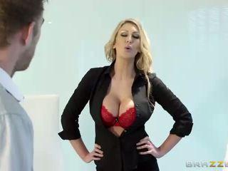 Busty boss Leigh Darby slammed real hard