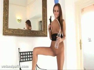 Abby using labia saten