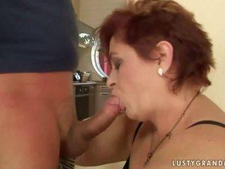 Fett mormor enjoys otäck kön