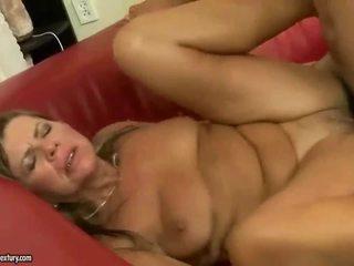 ग्रॅनड्मा gets उसकी गधे rammed