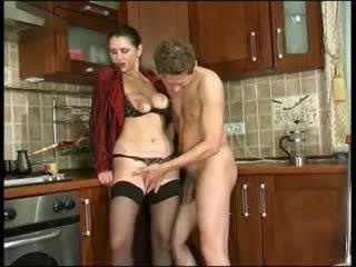 Mature In Stockings Fucked In Kichen Video