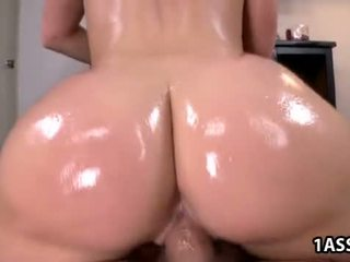 Oiled ass Kimmy Olsen gets fucked