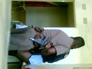 africano, uniforme, cop