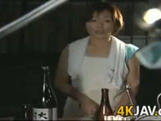 brunette, japanese, blowjob, mature