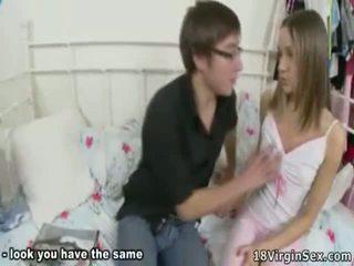 Virgin Opens Her Legs In Front Of Horny Dick.