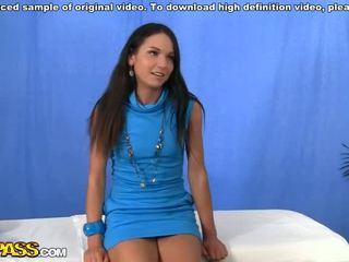 HD massage porn video with brunette Video