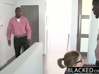 Blacked adoleshent treshe me two bishë dicks