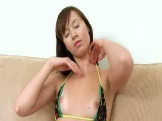 nice chick Evelina using fingers