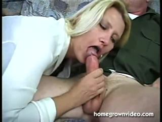 Blowjob On A Couch