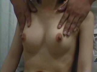 乳首, クローズアップ, 女子生徒, セクシー