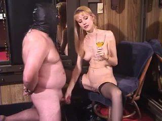 Naughty Blonde Milf Dominatrix Bizarre Femdom Piss Drinking