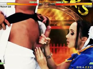 Katsumi Lusty Babe With Chap In Costume Like Hard Blowjob
