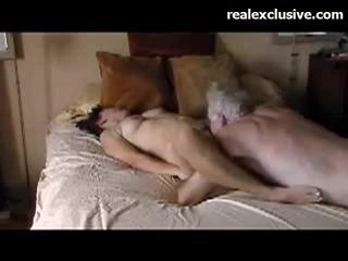 Patricia plezier met oud guy met een 9 inch thick lul