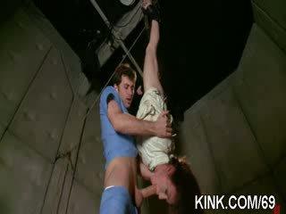 amazing hot girl suffers beautifully in Rough bondage