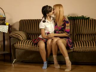 blondes, real brunettes more, lesbian