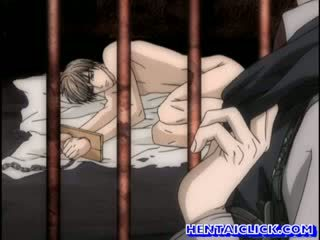Tied up anime twink gets hot fucked