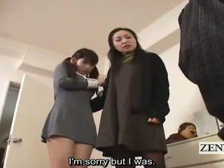 Subtitle cfnm japanisch schulmädchen und milf fang peeper