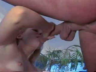 Liv wylder wraps pouty lips around soaked shaft engulfing hard